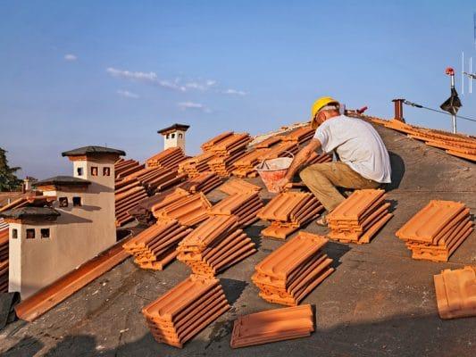 Troca de telhas